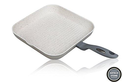 grillpfanne beschichted 28 x 28 cm keramikbeschichtung induktionsgeeignet moneta mammola stone - Grillpfanne beschichted 28 x 28 cm - Keramikbeschichtung - Induktionsgeeignet - Moneta - Mammola Stone