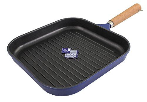 karcher grillpfanne aluguss 28 x 28 cm teflonbeschichtung mit holzgriff blau - Karcher Grillpfanne (Aluguss, 28 x 28 cm, Teflonbeschichtung, mit Holzgriff) blau