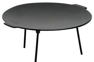 BBQ Toro Gusseisen Grillpfanne O 45 cm mit 3 Beinen 310x205 - BBQ-Toro Gusseisen Grillpfanne (Ø 45 cm) mit 3 Beinen | rund | Dutch Oven Ständer | Dreibein Grillplatte